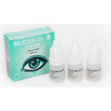 Silicium G5 Vision 15ml FR 3 flacon compte gouttes de 5ml