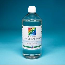 Huile de Magnésium  1L himalaya tibet chlorure de magnesium nigari sans métaux lourds ni irradié sans radioactivité