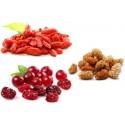 Mix 3 fruits : goji bio, cramberries bio, mulberries bio  50 grammes