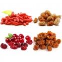 mix 4 fruits : goji bio, cramberries bio, mulberries bio, baies des incas bio